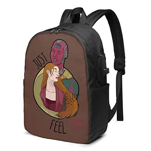 IUBBKI Bolsa para computadora mochila USB Wan-Da-Visi-On Png 17 Inch Laptop Backpack For Men & Women,Travel/School Backpack With Usb Charging Port & Headphone Interface