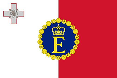 magFlags Flagge: Large Royal Standard of Malta 1964?1974 | Querformat Fahne | 1.35m² | 90x150cm » Fahne 100% Made in Germany