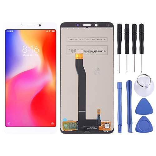 meihansiyun Accesorios de un teléfono Pantalla LCD y Montaje Completo de digitalizador para Xiaomi Redmi 6 / 6A Accesorio (Color : White)