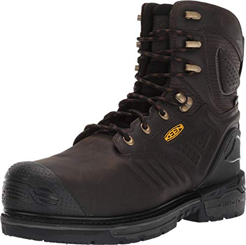 "KEEN Utility - CSA Philadelphia+ 8"" 600g, Waterproof Safety Toe Construction Boot, Cascade Brown/Black, 9.5EE"