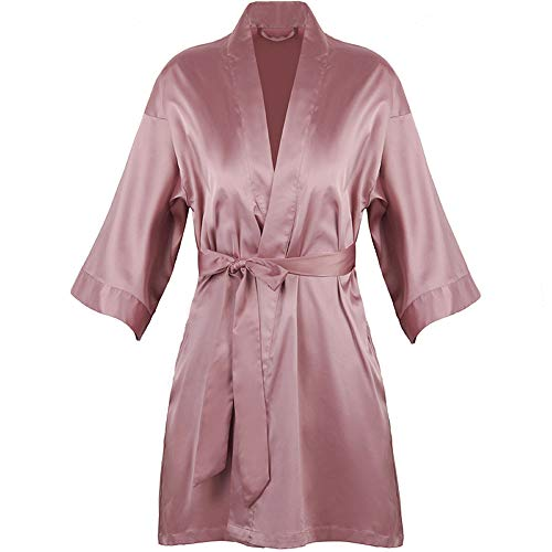 Sexy pyjama's vrouwen lente en herfst ijs zijde nachtjapon home wear dunne sectie badjas bruidsmeisje ochtendjas bruid bruiloft,L