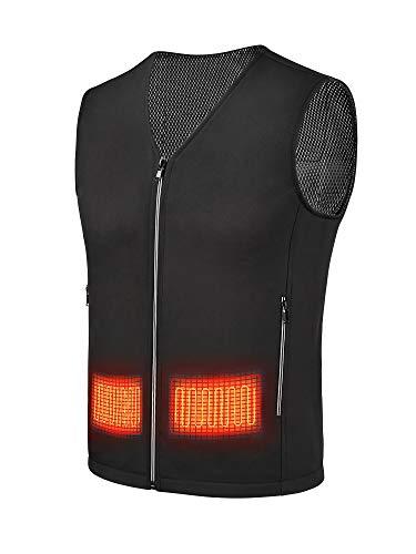AAP Chaleco eléctrico con calefacción para hombre, con banco de energía, chaleco calentador de cuerpo, ropa de invierno, para exteriores, chaqueta para esquí, camping, senderismo, caza, XL