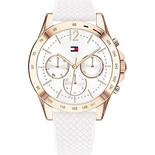 Tommy Hilfiger Reloj Analógico para Mujer de Cuarzo con Correa en Silicona 01782199