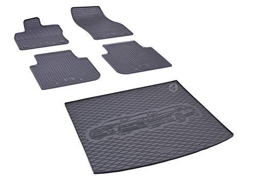 Passgenaue Kofferraumwanne und Gummifußmatten geeignet für Skoda Kodiaq 5-Sitzer ab 2017 + Autoschoner MONTEUR