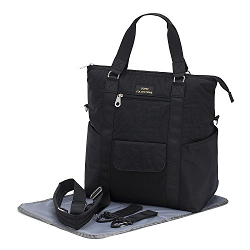 SoHo Bowery Diaper Tote Bag, Classic Black