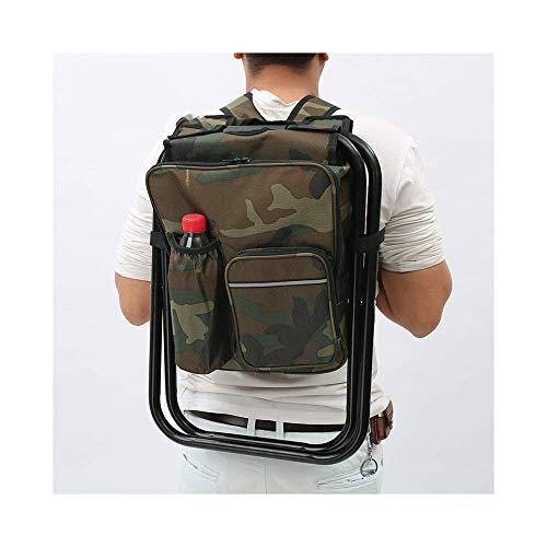 LKK-KK 3 en 1 Multifuncional Plegable Portable al Aire Libre y Portable Presidente Mochila heces Pesca Presidente de la Carga máxima 150kg