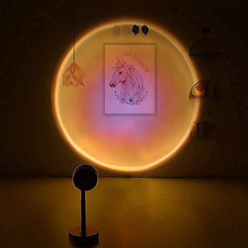 Partas Luz ambiental Romántico Visual LED Luz Luz Luz Proyector LED Lámpara Sunset Sunset Proyección Night Light para boda Fiesta de cumpleaños Party Party Sala de estar Decoración (Style : Sun)