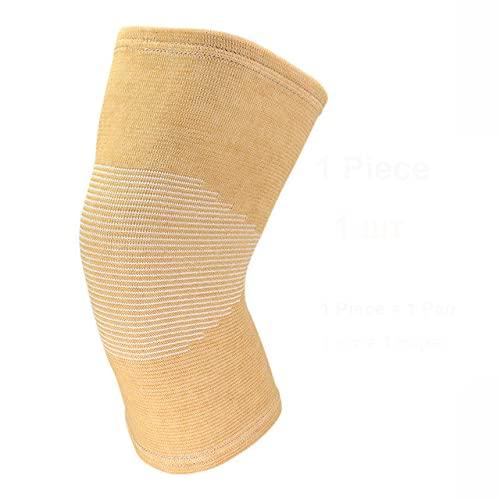 Rodilleras 1 Pieza Juego de Pierna Artritis lesión Gimnasio puño Vendaje elástico Rodilleras Rodilleras de Punto carbón para Mantener el Calor