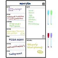 SmartPanda Calendario Magnético para Nevera - Ideal Planificador de Menú, Recordatorio, Lista de la Compra - Pizarra Magnética – Semanal – En Inglés