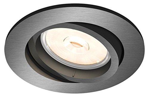 Philips Donegal Einbaustrahler, Fassung GU10, rund grau