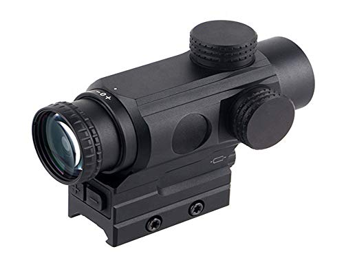 AR OPTICS Astigmanator 1x Prism Scope Fast Focus Ring Eyepiece Etched Glass Dual Ring Illuminated-Reticle 1/2 MOA Per Click Finger Adjustable Reset to Zero Capped Turrets