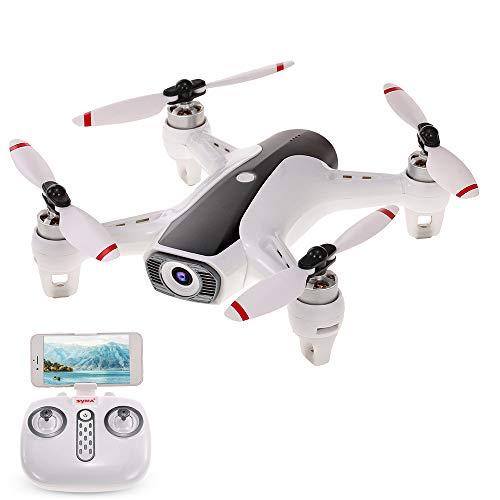 Goolsky Syma W1 GPS Drone con Fotocamera 1080P 5G WiFi FPV Drone Senza spazzole Flusso Ottico Seguimi Gesto Prendendo la Foto RC Quadcopter