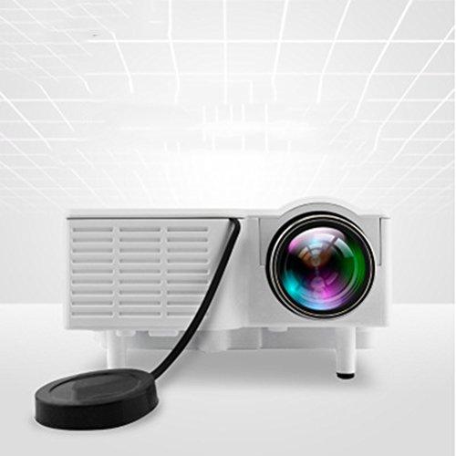LED-Videoprojektor Portable Mini-Multimedia-Projektor mit 60Inch Display Unterstützung 800 * 480 Auflösung Unterstützung Full HD 1080P Ideal für Heimkino Unterhaltung Spiele Parteien