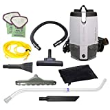 ProTeam Commercial Backpack Vacuum Cleaner, ProVac FS 6 Vacuum Backpack with HEPA Media Filtration and Residential Cleaning Service Kit, 6 Quart, Corded