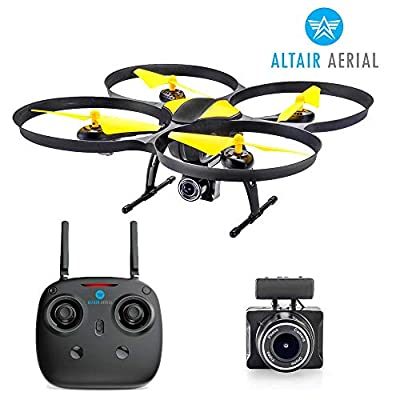 Altair 818 Hornet Beginner Drone with Camera | Free Priority Shipping | Live Video Drone for Kids & Adults, 15 Min Flight Time, Altitude Hold, Personal Hobby Starter RC Quadcopter for All Ages by ALTAIR INC