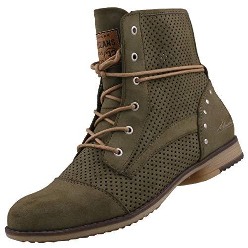 MUSTANG Damen Stiefeletten Grün, Schuhgröße:EUR 44