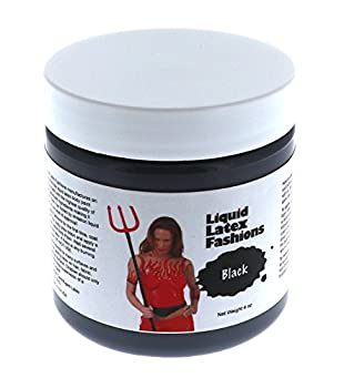 4 oz Black - Face and Body Paint – Ammonia Free Liquid Latex Ideal for Art Theater Halloween Parties and Cosplay for Adults and Kids