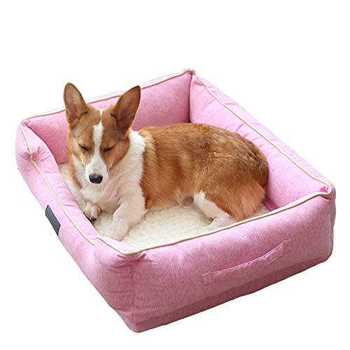 Perro cama Cama para mascotas para pequeñas / medianas / grandes camas para perros, sofá súper suave sofá cama sofá cama con cubierta lavable extraíble y fondo nokid, interior al aire libre lavable