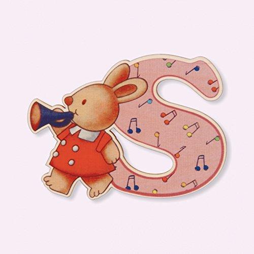 Dida - Lettre S Bois Enfant - Lettres Alphabet Bois pour Composer Le nom de Votre bébé et décorer la Chambre