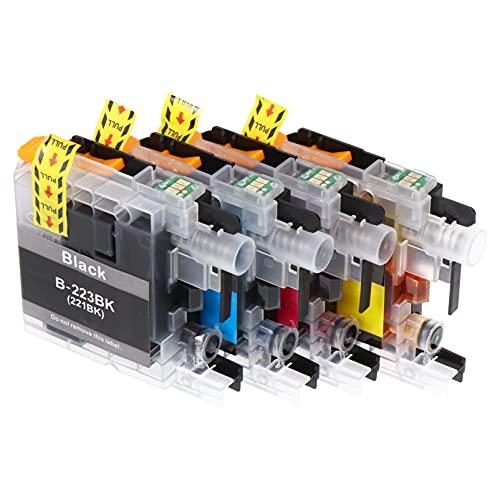 OSALADI 4 Cartuchos de Tinta Compatibles con La Impresora LC223