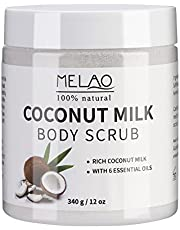 Peeling Cream Body Scrub with Coconut Milk and Dead Sea Salt Moisturizing Face Scrub and Pure Body Essence 12oz