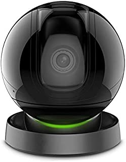 1080P HD Home Security IP WiFi Dome Camera, Compatible with Alexa, PTZ Surveillance System with Motion Tracker, Night Vision, Encrypted Cloud Service, Historical Video Playback with YI IoT APP