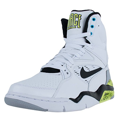 Nike Mens Air Command Force White/Black/Wolf Grey/Volt Basketball Shoe 9.5 Men US