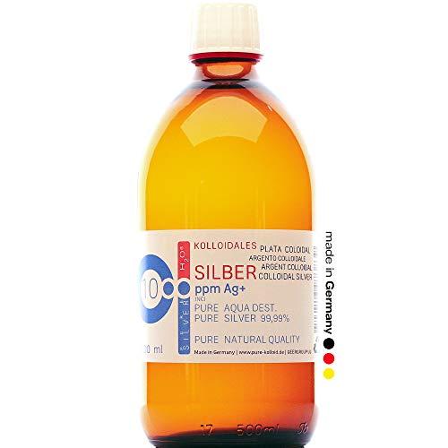 PureSilverH2O Kolloidales Silber 500ml 10PPM Silberwasser 100% frisch & effektiv