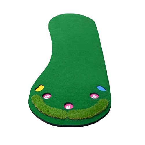 Golf mat Golf Putter Greens Pad Portable Synthetic Turf Mat Indoor And Wood Board For Practice And Training Lasting Design Indoor Outdoor Family Fun Game