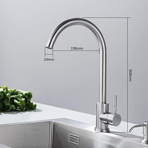 Auralum® Armatur Einhebel Wasserhahn Waschtischarmatur Wasserfall Waschbecken Bad Küche - 4