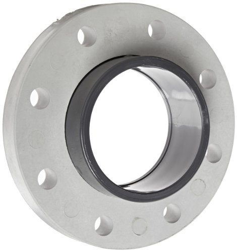 Spears 854-040 Glass-Filled PVC Pipe Fitting, Van Stone Flange, Class 150, Schedule 80, 4' Socket