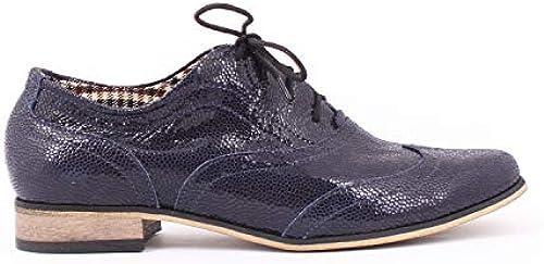 Zapato Navy 38 Größe Lapki Blau SchnürHalbschuhe, Damen