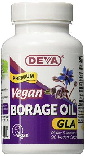 DEVA Vegan Vitamins Vegan Borage Oil 500 mg Vcaps, 90-Count Bottle