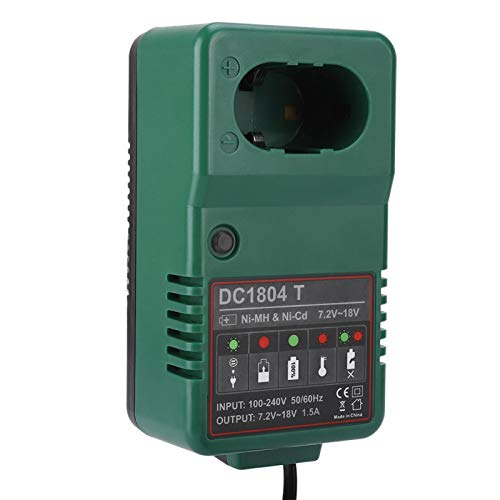 FOLOSAFENAR Cargador de batería de 18 V Cargador de batería 7.2V-18.0V Cargador de batería Ni-CD /(European Standard 110-240V)