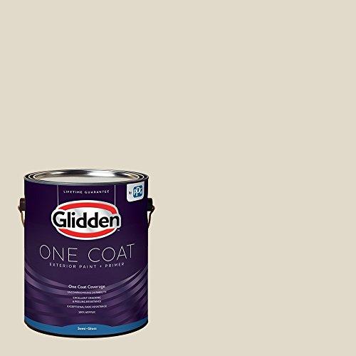 Glidden Exterior Paint + Primer: Greige/Antique White, One Coat, Semi-Gloss, 1-Gallon