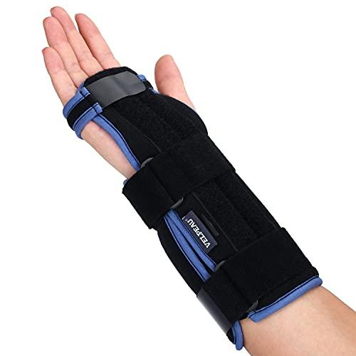 VELPEAU Carpal Tunnel Wrist Brace -Night Sleep Wrist Support for Men, Women, Tendonitis, Arthritis, Broken, Sports Injuries Pain Relief -Removable Splint -Adjustable Ergonomic Fit (Right Hand, Medium)