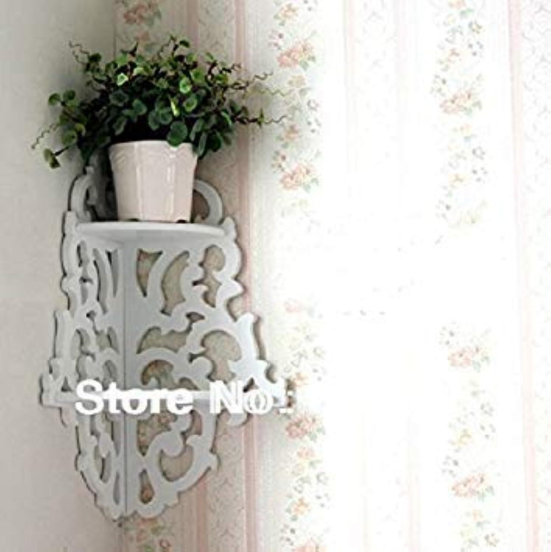 Generic Pure White Double Hollow partition Minimalist Wood Wall Shelf Racks Decorative Wall