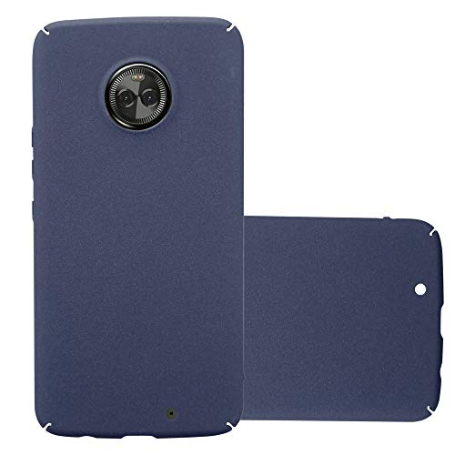 Cadorabo Hülle für Motorola Moto X4 in Frosty BLAU - Hardcase Handyhülle aus Plastik gegen Kratzer & Stöße - Schutzhülle Bumper Ultra Slim Back Hülle Hard Cover