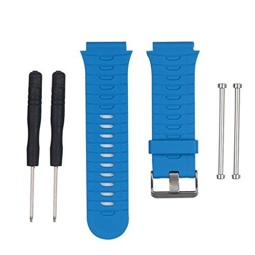MEIYIN Pulseira de relógio de silicone de substituição e ferramenta para Garmin Forerunner 920XT