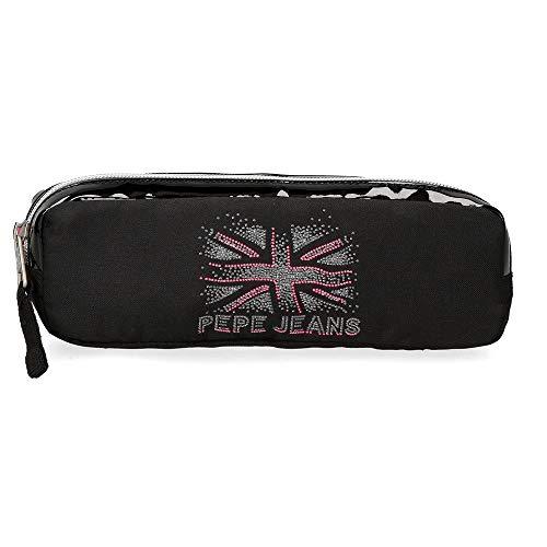 Pepe Jeans Ada Estuche Negro 22x7x3 cms Poliéster