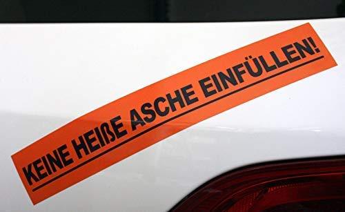 Keine Heisse Asche EINFÜLLEN Aufkleber - Mülltonne Warnhinweis Sticker - Dub