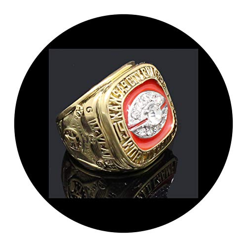 WOCTP American Football 1969 Chefs Championship-Ring, Herren, Rugby-Fan, Ventilator, Souvenir-Ring, mit Box 11#