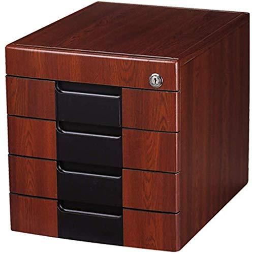 Preisvergleich Produktbild JJSFJH Holzaktenschrank Desktop Storage Kabinett Aktenschrank Datenschrank Boden Mobil Kabinett Mehrschichtige Schrank mit Verschluss
