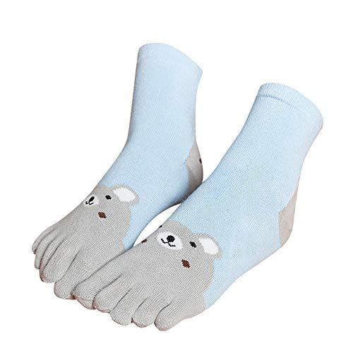 VJGOAL Niños Invierno Mantener caliente Grueso Transpirable Animal Print Patchwork Toe Calcetines Cinco Dedos Calcetines de algodón Calcetines divertidos
