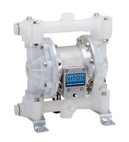 Fuelworks Double Diaphragm Transfer Pump 1/2' Inch Fpm/Fkm - 12gpm / 45lpm Heavy Duty Polypropylene...