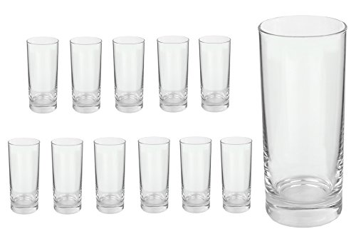 Van Well Gala Longdrinkglas, Tumbler, Softdrink-Glas, Wasserglas, 280 ml, im 12er-Set