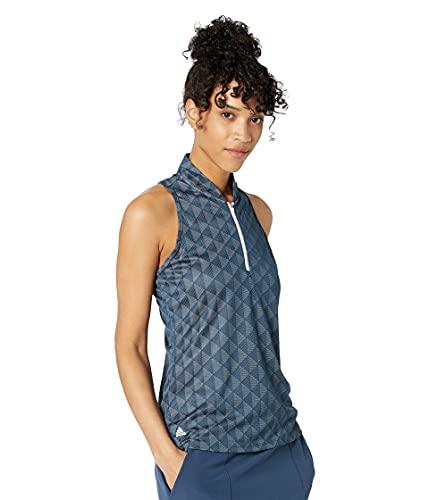 adidas Camiseta polo Heat.rdy Racerback Primegreen para mujer - TW3120S21, Polo Heat.rdy Racerback Primegreen para mujer, L, Azul marino/flor y brillo