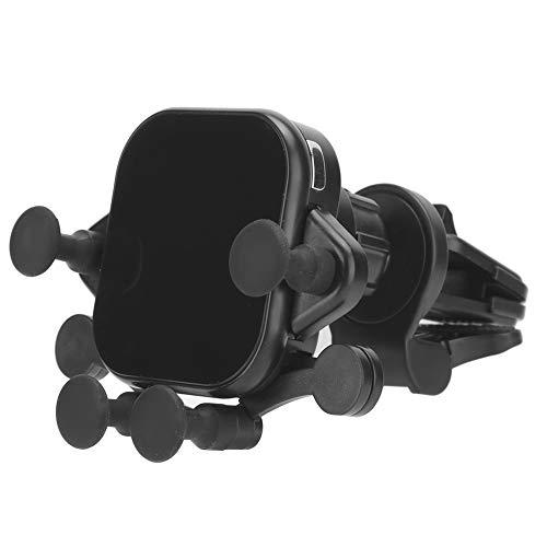 Cargador inalámbrico para automóvil, cargador inalámbrico magnético para automóvil, soporte para automóvil de carga inalámbrica rápida de 15 W, interfaz USB-C Soporte para teléfono móvil con detección