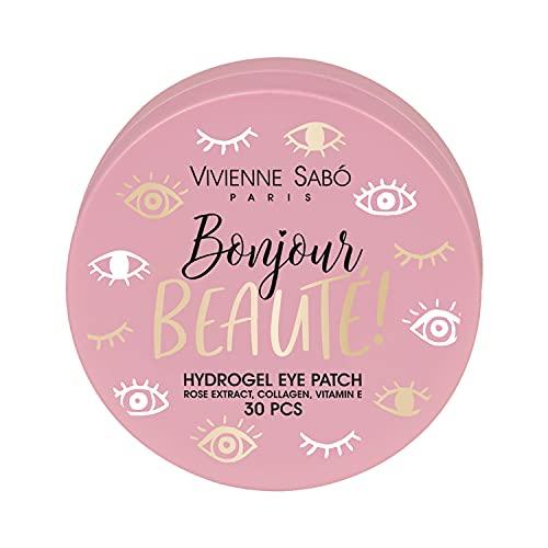 VIVIENNE SABÓ | Parches para Ojos de Hidrogel con Colágeno Bonjour Beautè | Elimina Manchas y Reduce Ojeras y Arrugas | 30 Unidades | Cruelty Free