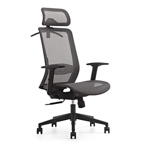 Aibecy silla escritorio juvenil,silla de escritorio de oficina con respaldo alto,silla de computadora de malla transpirable,silla de escritorio giratoria de 360 °,silla ajustable,respaldo de altura